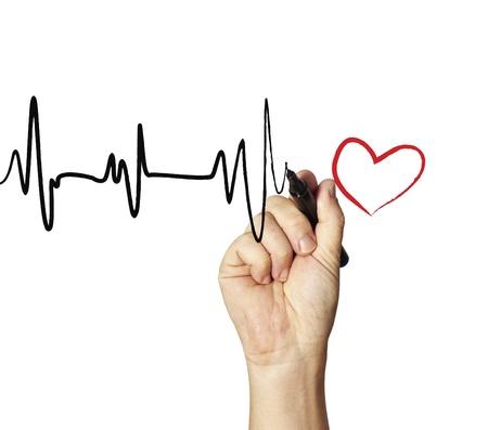 Heart monitor Drawing  Stockfoto