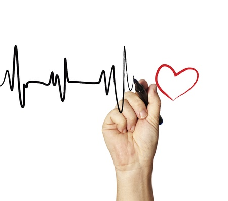 heart ecg trace: Heart monitor Drawing  Stock Photo