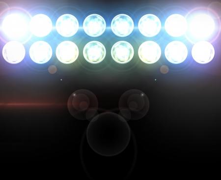 Stufe Scheinwerfer mit Laser-Strahlen