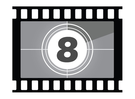 film countdown  Number 8 Stock Photo - 14405977