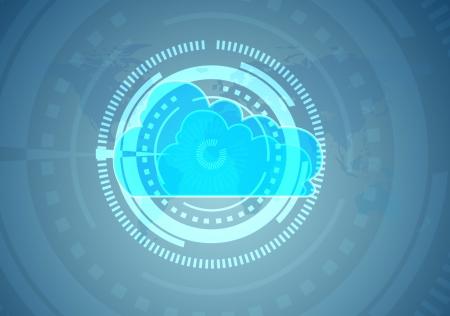 computational: Cloud computing symbol repres