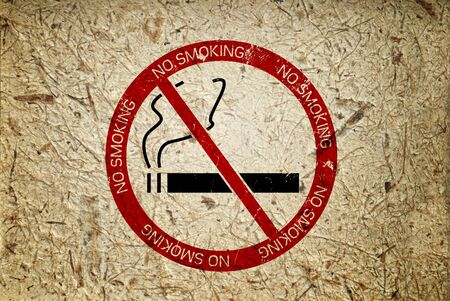 No smoking symbol grunge background   photo