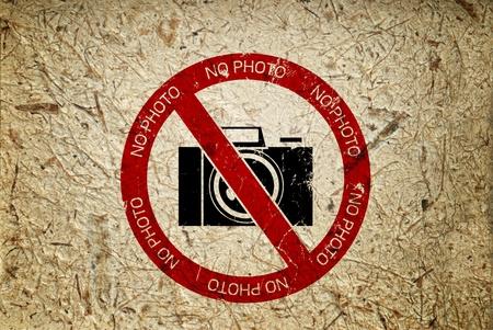 no photo: No photography  Stock Photo
