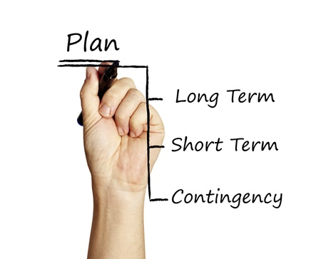contingency: writing planning  Stock Photo