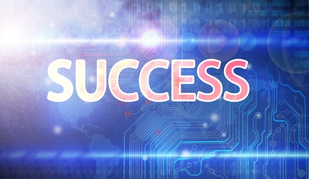 Success flow chart made with Stock Photo - 17901872