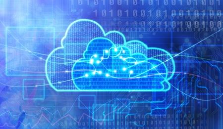 Konzept des Cloud Computing Standard-Bild - 17901888