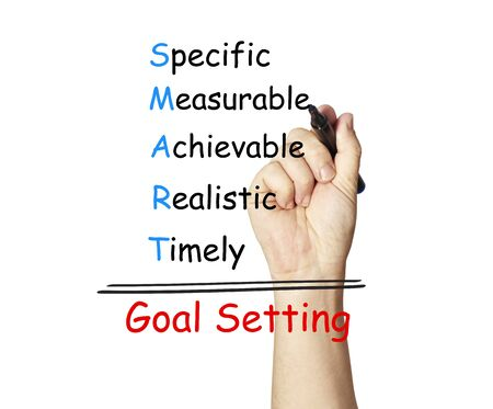 Hand writing smart goal photo