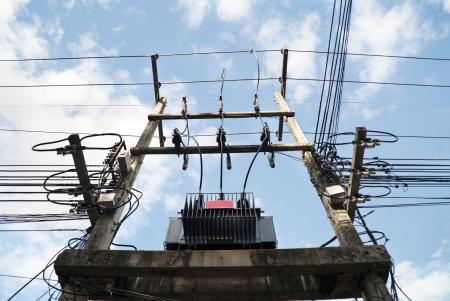 transformator: Transformer electric Stock Photo