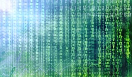 binary code background Stock Photo - 17933262