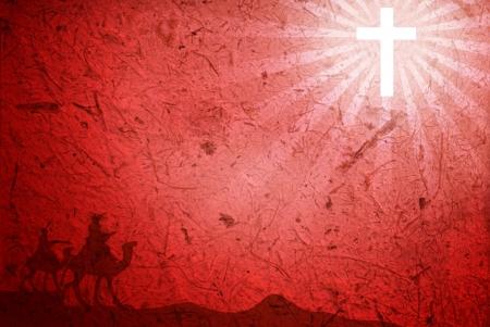 cristianismo: Fondo rojo Foto de archivo