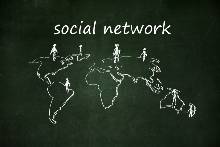social network Stock Photo - 17933257