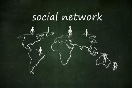 social network Stock Photo - 17933257
