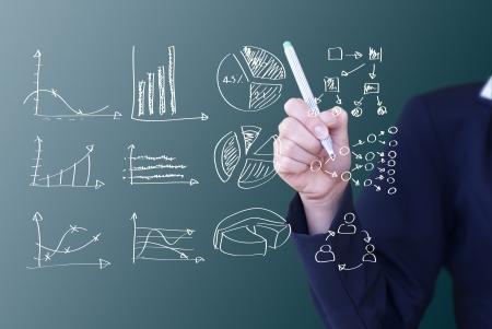 desarrollo económico: escritura concepto de negocio idea