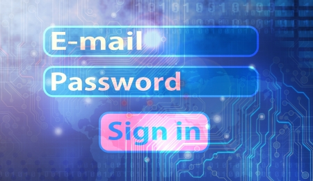 Log-in form Stock Photo - 17933292