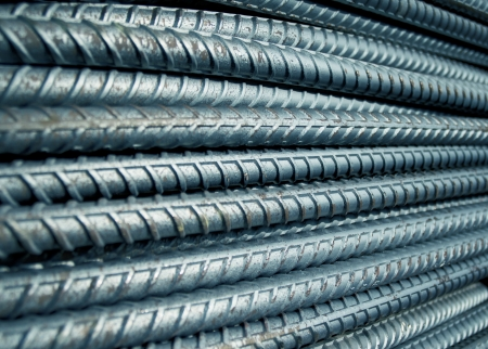 steel mill: Reinforcing steel bars for building armature