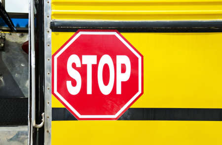 danger signs: traffic sign stop Stock Photo