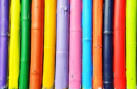 lineas rectas: cerca de bambú Foto de archivo