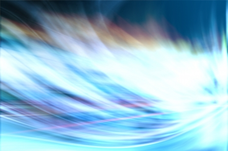 abstract background with blurred magic neon blue light rays photo