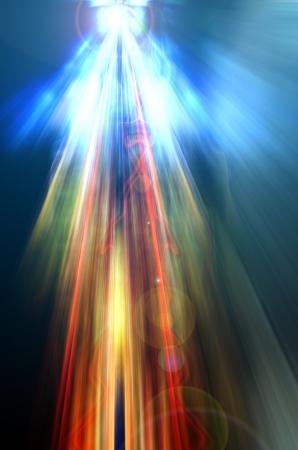 Bühne Spotbeleuchtung over red christmas background Standard-Bild - 18262241