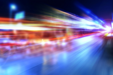 Abstract night acceleration Speed in motion