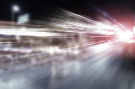 Abstrakt Nacht Beschleunigung Geschwindigkeit Bewegung Standard-Bild - 19112286