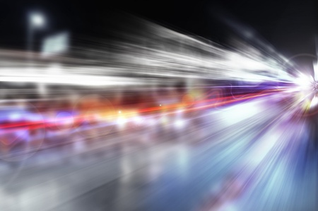 light speed: abstract night acceleration speed motion