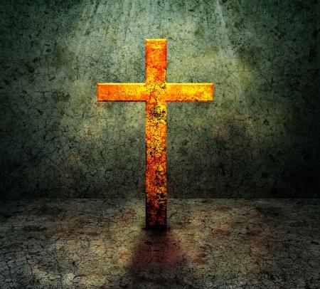 black worship: cross Stock Photo