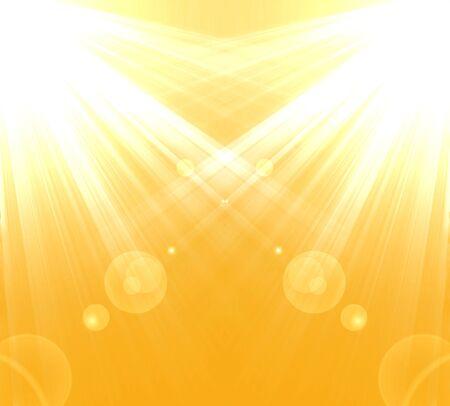 Warm sun light