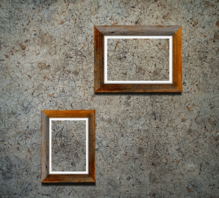 Blank pictures on the wall in the gallery Stock Photo - 19604279