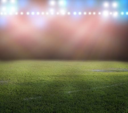 Lumières du stade pendant la nuit Banque d'images - 21035973