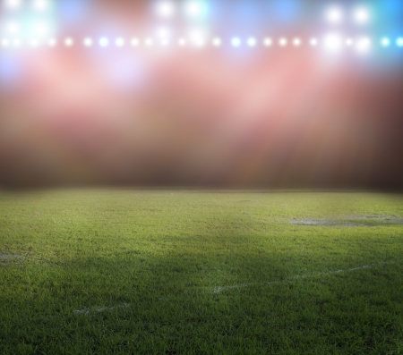 stadium soccer: stadium lights at night