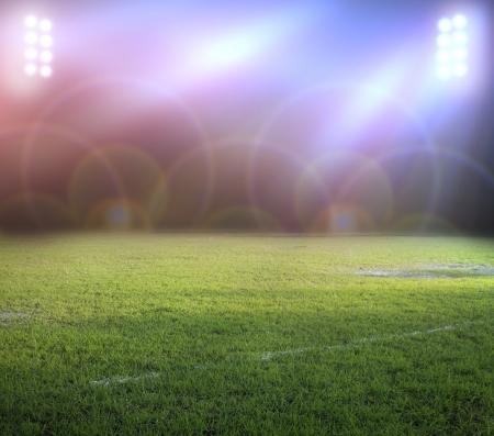 soccerfield: stadion lichten 's nachts