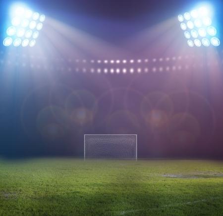 夜のスタジアムのライト