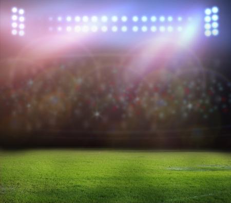 Stadion Lichter in der Nacht und Stadion Standard-Bild - 21515014