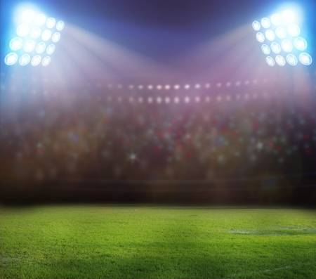 stadium lights at night and stadium Stock Photo - 21515015