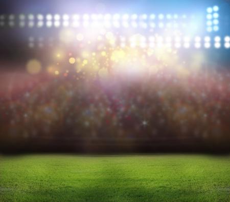 stadium crowd: stadium light,