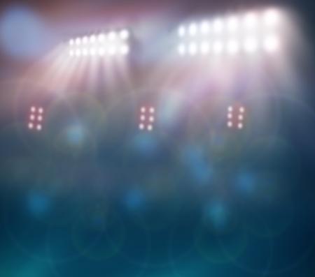 cancha de basquetbol: Luces del estadio contra la noche oscura