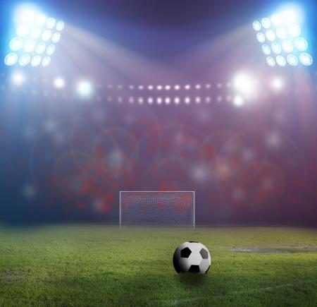 campeonato de futbol: F�tbol campo de f�tbol de hierba del estadio