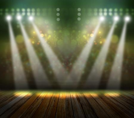 concert spot lighting over dark background