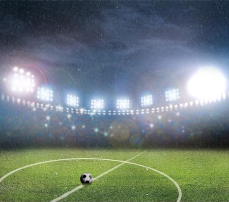 cancha de futbol: Estadio Arena Foto de archivo