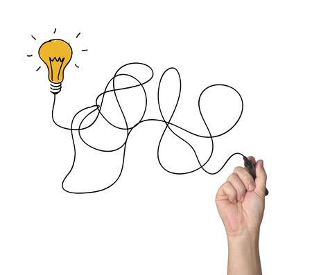 hand drawing light bulb  Zdjęcie Seryjne