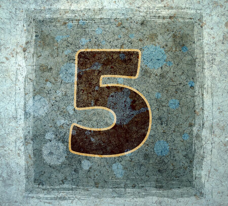 number border: number five  Stock Photo