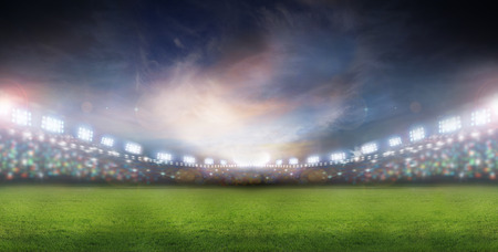 soccer field: spotlights