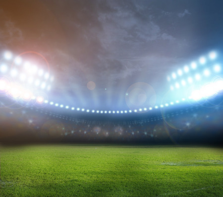 stadium lights Standard-Bild