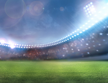 soccer field: Stadium football Stock Photo