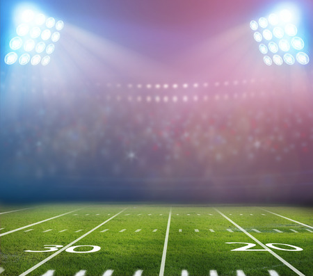 american football: light of stadium