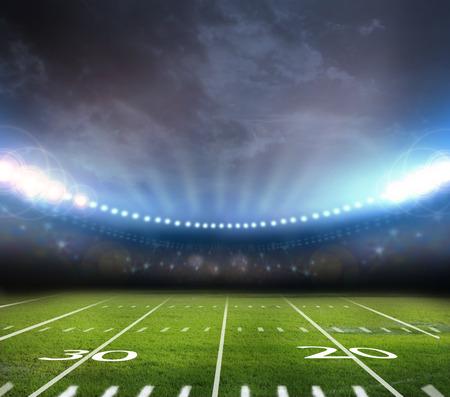 champ vert: lumi�re de stade Banque d'images