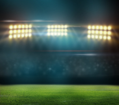 Groen voetbalveld,