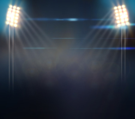Image of defocused stadium lights at night Stock Photo