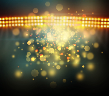 basketball: Image of defocused stadium lights at night Stock Photo